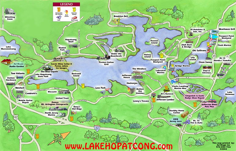 Lake Hopatcong Map Directions to Lake Hopatcong State Park